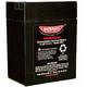 Parmak Replacement 6 Volt Battery
