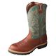 Twisted X Mens Cowboy Cog/Dk Grn Work Boots