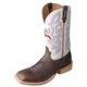 Twisted X Mens Hooey Sq Toe Brn/Wht Boots