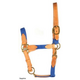 Deluxe Harness Leather and Cotton Halter Sapphire