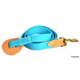Deluxe Harness Leather and Cotton Lead Turquoise