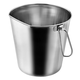 Indipets Flat-Sided Stainless Steel Pail
