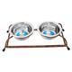 Luxe Craft Wrought Iron Bronze Pet Diner