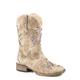 Roper Kids Lola Square Toe Tan Boots