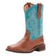 Ariat Ladies Prim Rose Sq Toe Brn/Turq Boots