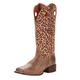 Ariat Ladies Round Up Ryder Sq Leopard Boots