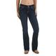 Wrangler Ladies Mae Mid Dark Booty Up Jeans