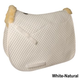 Roma All Purpose Square Saddle Pad White/Natural