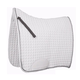 Roma Ecole Swallow Tail Dressage Pad White/Black