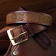 ROMFH Quiet Bling Belts 1.5 inch 36 Brown