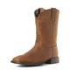 Ariat Ladies Roper Wide Square Dist Brn Boots
