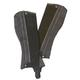 Ovation Pro Suede Ribb Black Half Chap