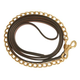 Collegiate Leather Lead with Chain Pony
