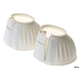 Roma Ribbed Rubber Velcro Bell Boots White