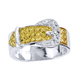 Yellow Stone Buckle Ring