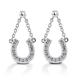 Kelly Herd Horseshoe Dangle Earrings