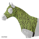 Tough-1 Wild Lycra Hood Large White Zebra