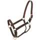 Tough-1 Leather Adj Stable Halter w/Snap Large Hor