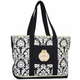 Equine Couture Damask Tote Bag White/Black/Pink