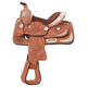 King Series Mini Tooled Silver Show Saddle Lt Oil