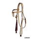Tory Silver Buckaroo Knotted Browband Headstall Ho