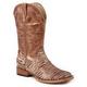 Roper Ladies Brown Bling Square Toe Boot 11