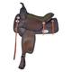 Tex Tan Salem Flex Western Trail Saddle 15In Pecan