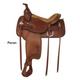 Tex Tan Seminole Flex Western Trail Saddle 17In XW