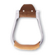 Martin Aluminum Engraved Leather Tread Stirrup 3in
