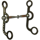 Western AT Silver Dot Snaffle Argentine Bit