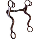 Western AT Silver Dot Snaffle S-Shank Bit