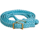 Mustang Nylon Braided Contest Rein Turquoise/Pink