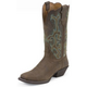 Justin Ladies Stampede Sq Toe Sorrel Boots 11W