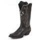 Justin Ladies Stampede Black Deercow Boots 11W