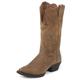 Justin Ladies Stampede Tan Cowhide Boots 11W