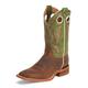 Justin Mens Bent Rail Sq Toe Boots 15EE White