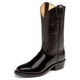 Justin Mens Round Toe 12in Blk Western Boot 13EE