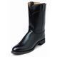 Justin Mens Melo Veal Black Roper Boots 13EE