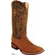 Ferrini Mens Suede Alligator Sq Toe Boot 13D Tau
