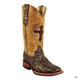 Ferrini Ladies Embossed Cross Boots 10 Silver