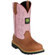 John Deere Ladies 10in Pull-On Boots 11 Oak
