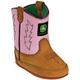 John Deere Crib Series Classic Pull-On Boots 4 Oak