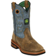 John Deere Childs Sq Toe Pull-On Boots 3 Tan