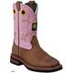 John Deere Youth Sq Toe Pull-On Boots 6 Tan
