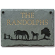 Horses Personalized Slate Plaque