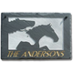 Three Horses Personalized Slate Plaque