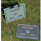 Pet Memorial Slate Marker Gold w Black Horse Shoe