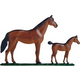 Mare and Colt Weathervane