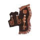 Kids Chap and Vest Set Horseshoes Brown Small