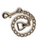 Basic Brass Plaited Stud Chain 30 Inch